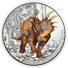 Österreich - 3 Euro 2021 - Styracosaurus Albertensis - Dino-Taler-Serie (8.) hgh