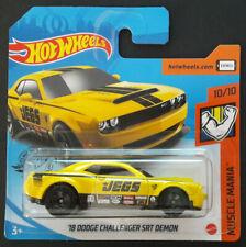 Hot Wheels 2020 '18 Dodge Challenger SRT Demon muscle Mania nuevo & OVP