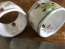 Dos Wedgwood 2x (una fresa silvestre) (China de hueso) R4406 anillo de servilleta