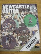 21/01/1976 Football League Cup Semi-Final: Newcastle United v Tottenham Hotspur