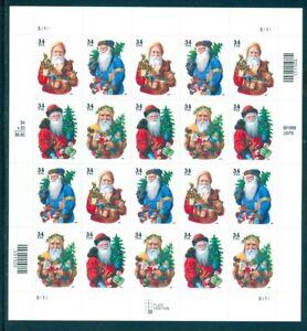 US 3537-3540 Christmas Santa Claus, sheet/20, Mint NH, Free Shipping