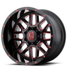 4 18 Xd Wheels Xd820 Grenade Satin Black Milled W Red Off Road B44