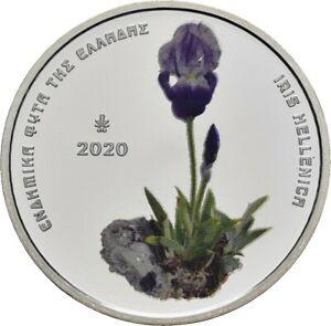 Savoca Coins Griechenland 5 Euro 2020 Iris hellenica Blume Farbe =RRD65308