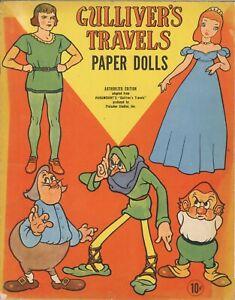 VINTGE UNCUT 1930s GULLIVER'S TRAVEL PAPER DOLL SALFEILD ORG SZ~LAZ REPRODUCTION