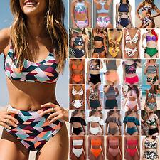 Women Bikini Set Swimsuit High Waist Ladies Bathing Suit Swimwear Beachwear UK
