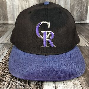 DISTRESSED FADED COLORADO ROCKIES USA MADE NEW ERA HAT CAP FITED 7 1/2 100% WOOL