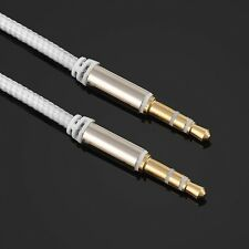 Nylon 3.5mm Male to Male Car Aux Auxiliary Cord Stereo Audio Cable For Cellphone