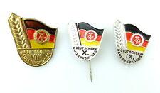 #e2196 IX, X., VIII. Deutscher contadini Congresso 3 distintivo DDR