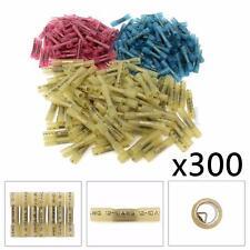 300 x Heat Shrink Butt Wire Electrical Crimp Connectors 10-12 14-16 18-22 Gauge