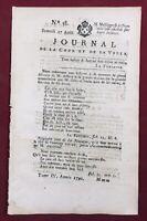 Journal de la Cour 1791 Royaliste Mantes Toulouse Strasbourg Duc d'Orléans