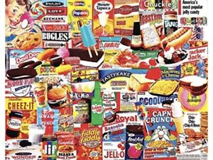 White Mountain Jigsaw Puzzle Things I Ate As A Kid - 1000 Pieces Made in USA