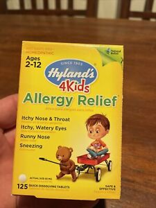 Hyland's 4Kids Allergy Relief Ages 2-12 125 quick dissolving tablets