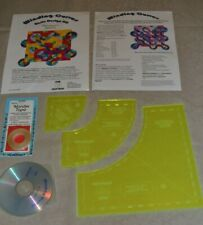 Quilt Templates, Sew Inspired basic design kit Winding Curves, with Cd & tape