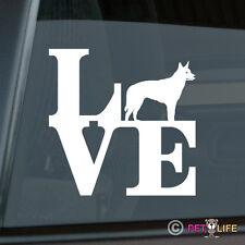 Love Australian Kelpie Sticker Die Cut Vinyl - park barb