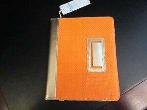 "Tangerine Orange Straw iPad Tablet Cover by Mud Pie, 9""-10"", NWT"