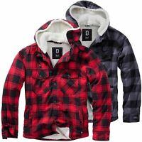 Brandit Lumberjacket Herren Winter Jacke Übergangsjacke Holzfällerhemd Teddyfell