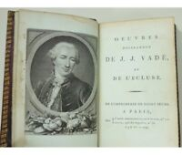 Oeuvres poissardes de J. J. Vadé et de l'Écluse Didot 1796 vélin teinté maroquin