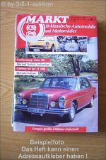 Oldtimer Markt 8/88 DB S Klasse Sunbeam Alpine Volvo