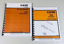 Case 1816 Uni Loader Skidsteer Service Manual Parts Catalog Repair Shop Overhaul