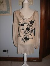 Guess silk embroidered tunic silk top womens size M Worn twice