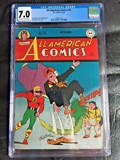 ALL AMERICAN COMICS #78 CGC FN/VF 7.0; OW-W; Paul Reinman cvr/art! rare!