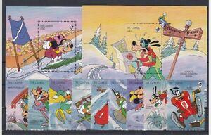 D. Walt Disney  Gambia  1799-1807 + Block 217/8  Micky Maus   ** (mnh)