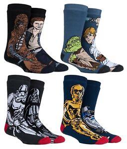 Heat Holders - Mens Star Wars Thermal Slipper Socks with Grips