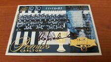 2005 Tradition Carlton 1979 VFL Premiership Commemorative Signed ALEX JESAULENKO