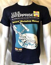 STAR TREK Haynes Workshop U.S.S. Enterprise Official T-Shirt(S)OG Genuine R06