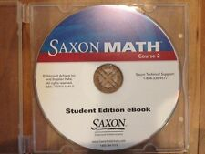 Saxon Math, Course 2 Student Edition eBook - CD, ISBN 1591418410, VERY GOOD!