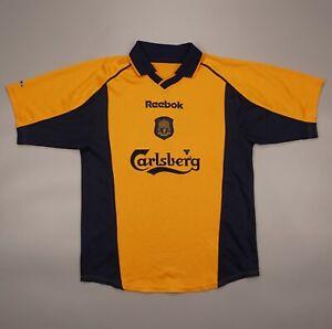Vintage Liverpool 2000 2002 Away Football Soccer Shirt Jersey Reebok Size L Kids