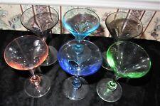 SET OF 6 APERTIF MULTI-COLORED CORDIAL GLASSES