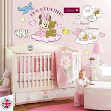 Disney Minnie Mouse Daisy Wall stickers Nursery Filles Bébé Teddy Rose Animaux