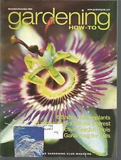 Gardening How-To November December 2002 Showy Houseplants/Winter Interest/Tools/