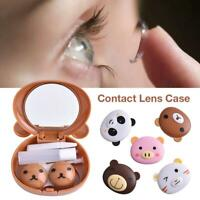Cartoon Pig Contact Lens Case Pink Travel Contact Lenses Companion Box Eyes Care