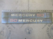 Vintage Mercury 50 Hp Outboard Decal Set