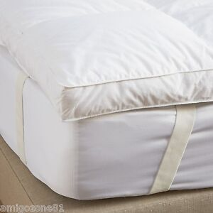 Luxury Duck Feather Goose Feather & Down Mattress Topper or Pillow Pair All Size