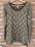 Free People We the Free Knit Brown Variegated  long sleeve Women's Size Large