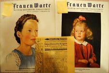 Frauen warte .mode magazin , reklame. 1941 mit schnittmuster