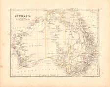 1868  ANTIQUE MAP - AUSTRALIA