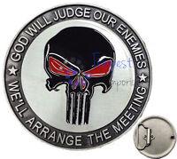 Punisher Belt Buckle Black Skull TV Movie Comics Brand New & Sealed