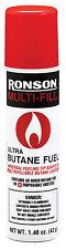 2 Bottles Ronson Butane 42grm Refill 1.48oz Fuel Gas for Lighter Cigarette Cigar