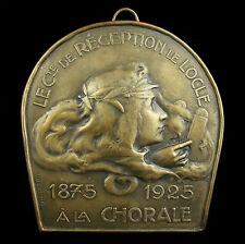 Grand médaillon La Chorale de Le Locle Suisse 1925 sc Huguenin 12cm 429g Medal