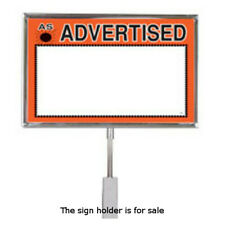 Chrome Sign Holder 7 W x 5.5 H Inches for Stem Mount