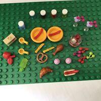 Lego Friends Minifigure Kitchen Accessories Food Cooking Utensils Job Lot (D)
