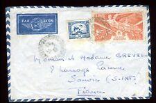 Indochine - Enveloppe de Saïgon pour la France en 1947- réf O71