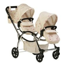 Roma Darcie Twin Dolls Pram - Cream - 3-16 years Ideal Present For All Ages
