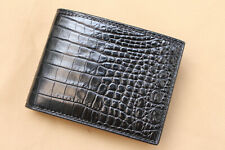 Handmade Black Genuine Alligator CROCODILE Leather Skin MEN'S Bifold Wallet