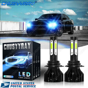 For Dodge Charger 2006 2007 2008 2009 - 9006 Low Beam 8000K LED Headlight Bulbs