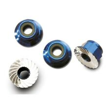 Traxxas 1747R Nuts, 4mm (4) Blue: VXL, Slash 4x4 (New in Package)